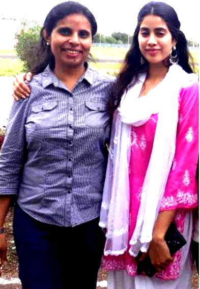 Janhvi with Gunjan Saxena