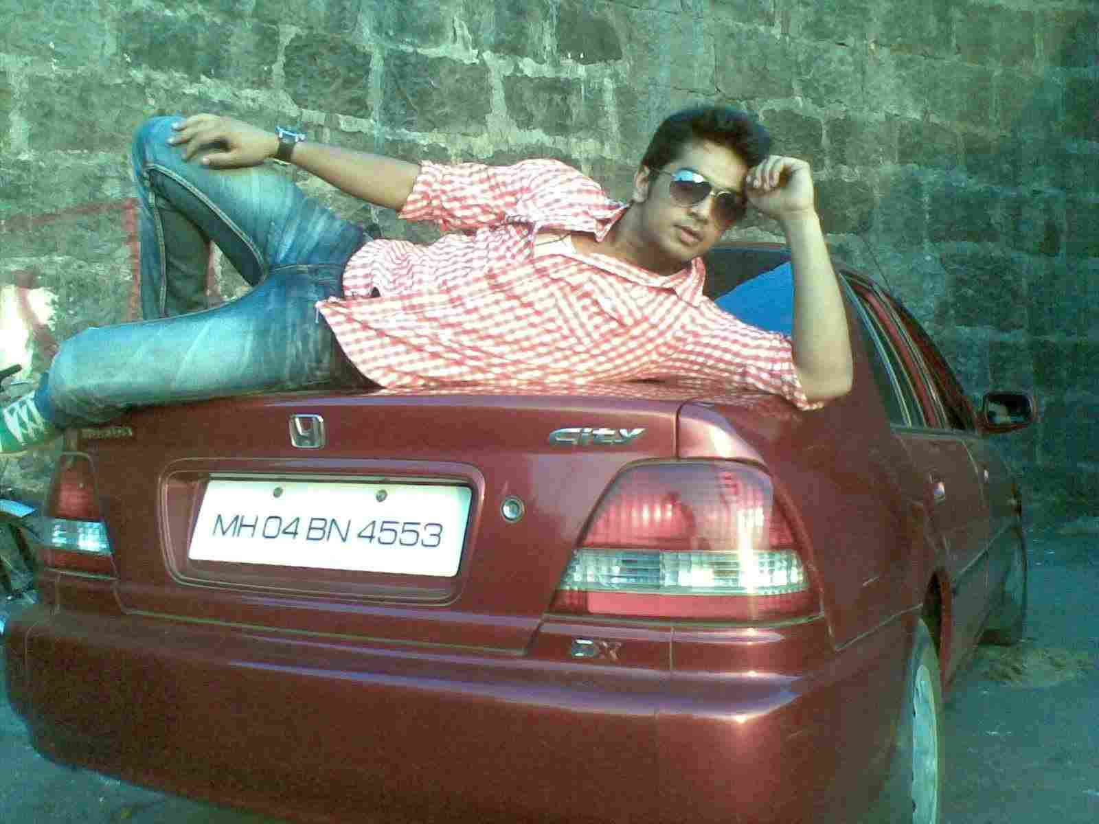 Fahad Ali with his car
