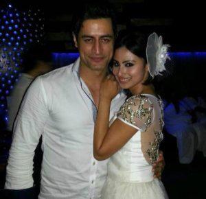 Mohit Raina with Mouni Roy