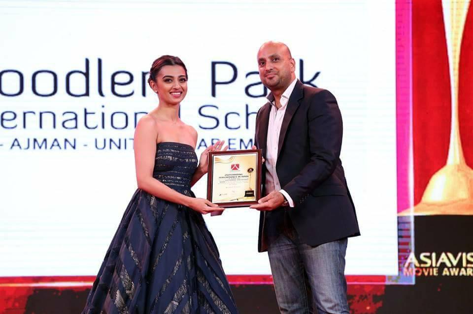 Radhika Apte with Asiavision Movie Awards