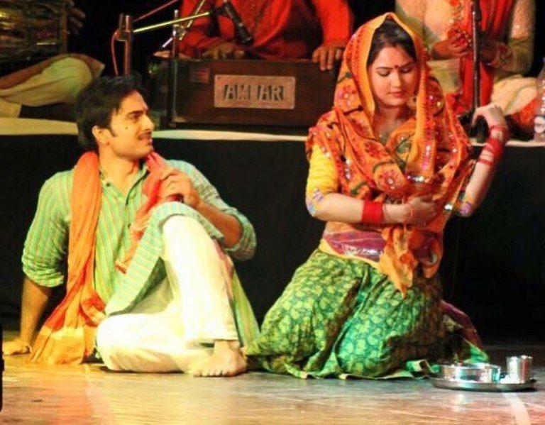 Kamna Pathak while doing a play
