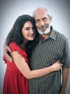 Kamna Pathak with her father