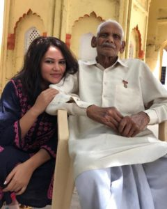 Kamna Pathak with her grandfather
