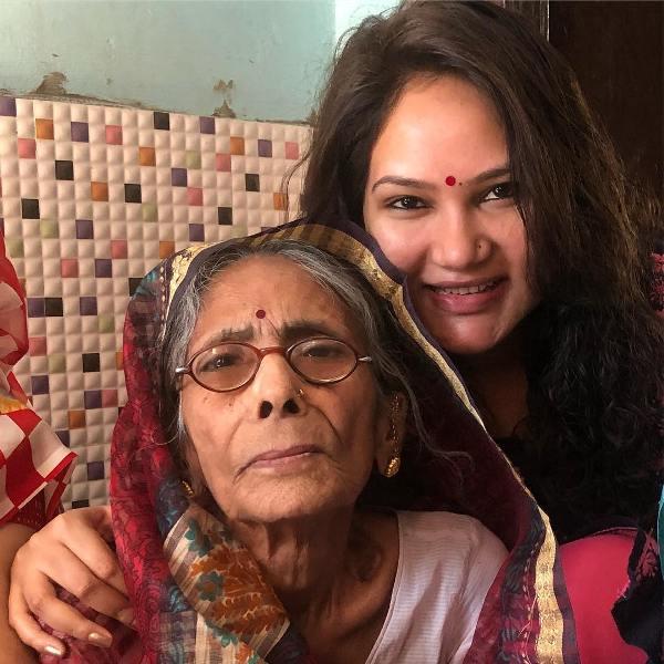 Kamna Pathak with her grandmother