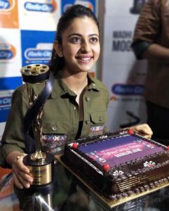 Rakul Preet Singh with Radio City Cine Awards