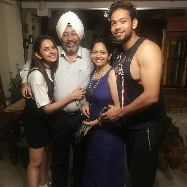 Rakul Preet Singh with her family