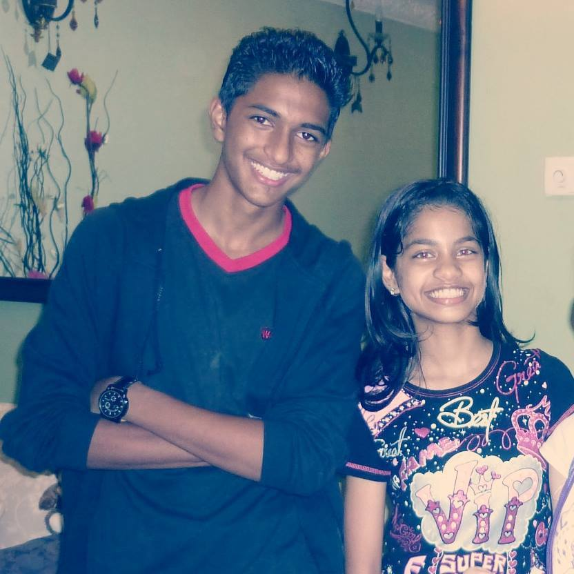 Mugen Rao with his sister