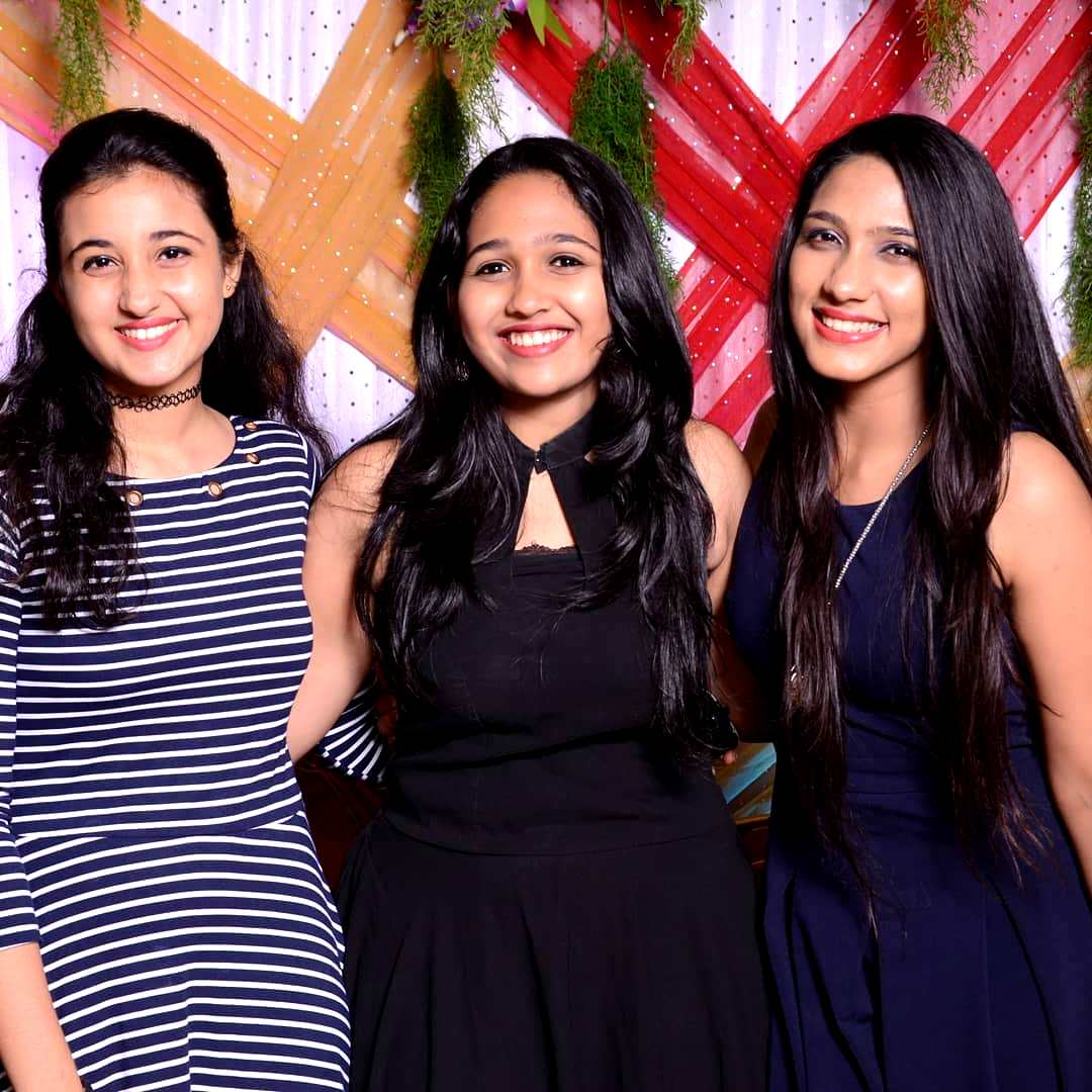 Revathi Pillai with her sisters