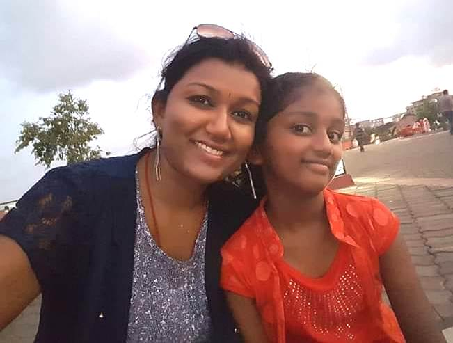 Vaishali Mhade with her daughter Aastha