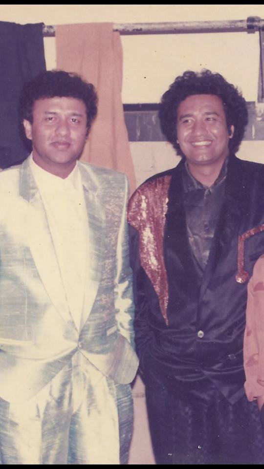 Abu Malik with his brother Anu Malik