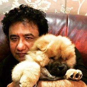 Abu Malik with his dog