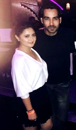 Arhaan khan with his girlfriend Rashami Desai