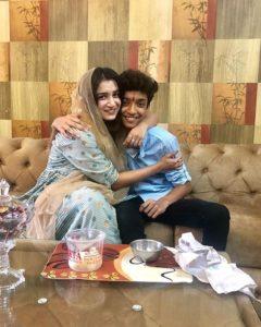 Shefali Bagga with her brother