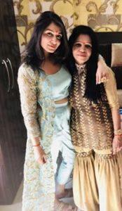 Shefali Bagga with her mother
