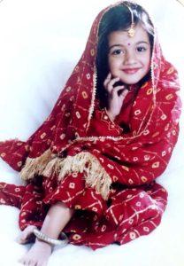 Aditi Sharma's childhood Photo