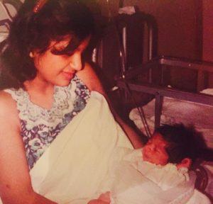 Geeta Basra Childhood Picture