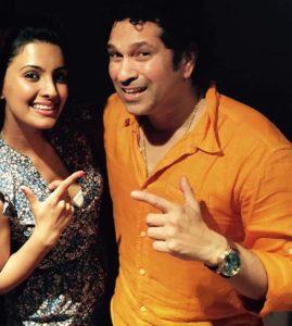 Geeta Basra with Sachin Tendulkar