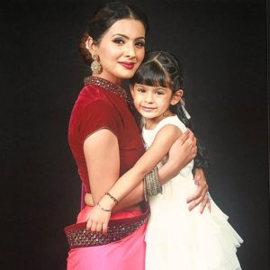 Geeta Basra with her daughter