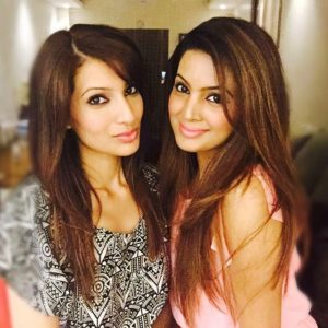 Geeta Basra with her sister