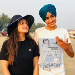 Himanshi Khurana with her brother