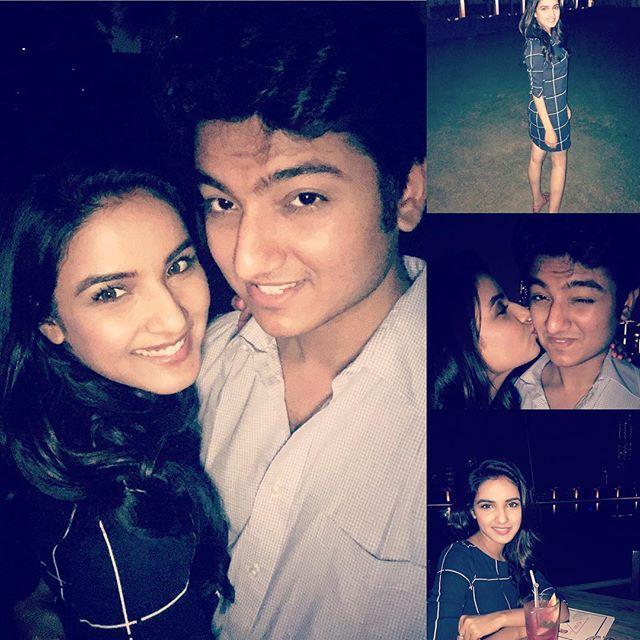 Jasmin Bhasin with her boyfriend