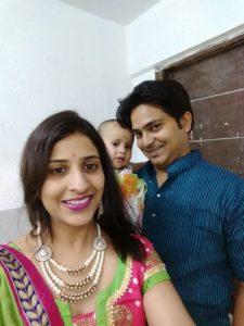 Jenisha Bhaduri with her family