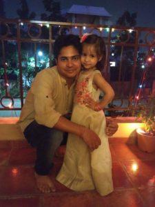Jenisha Bhaduri with her father