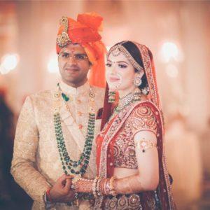 Meghna Chautala with her husband Dushyant Chautala