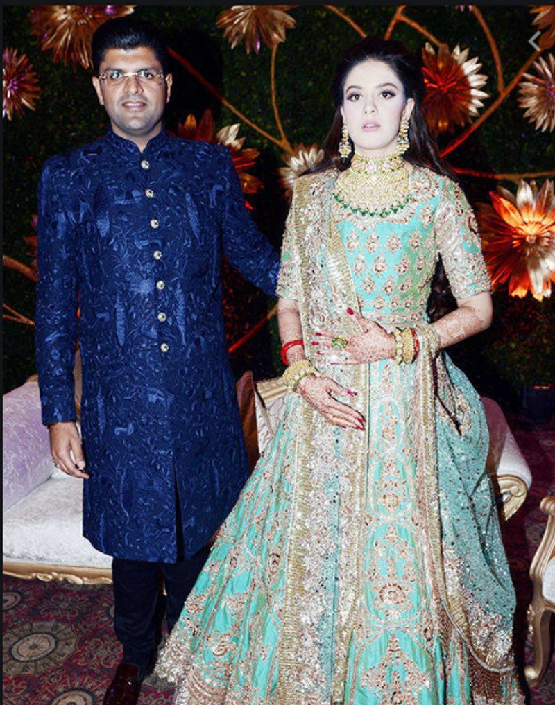 Meghna Chautala with her husband