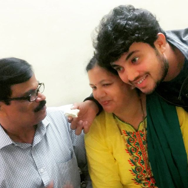 Prasad Jawade with his family