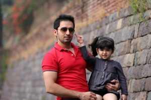 Saisha Bajaj with her father
