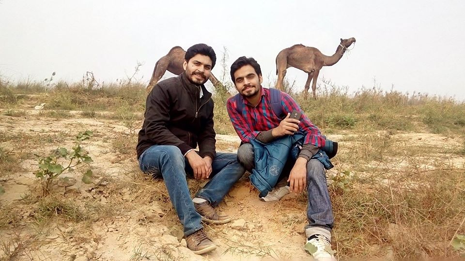 Satish Ray with his brother