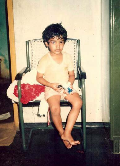 Pradeep Chandran childhood picture