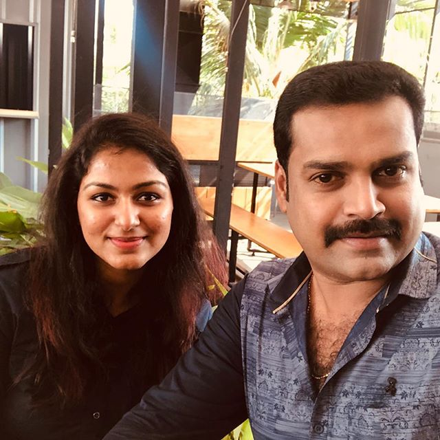Pradeep Chandran with Rini Raj