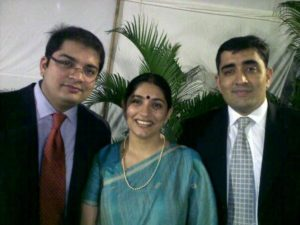 Shardul Singh Bayas with his sister and brother