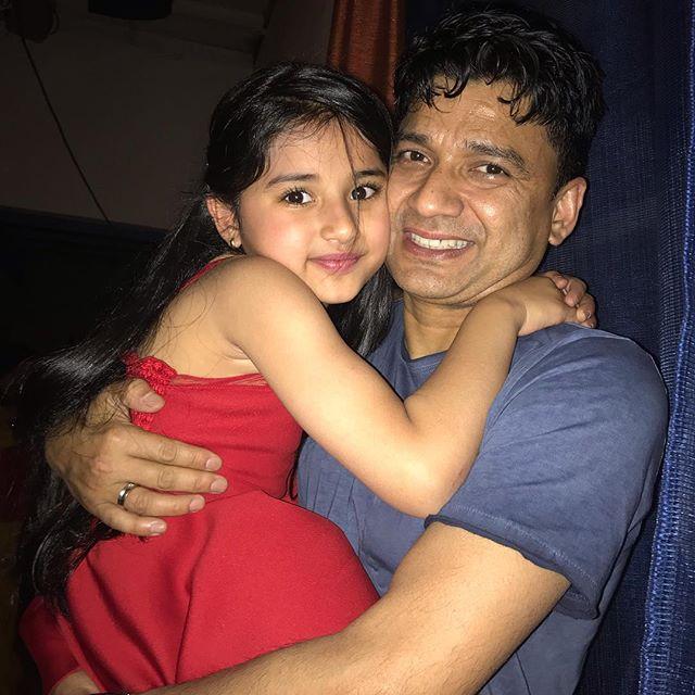Aura Bhatnagar Badoni with her father