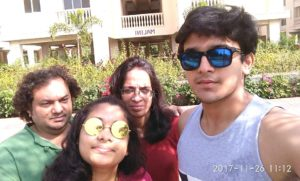 Pravisht Mishra with his family
