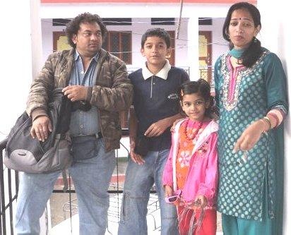 Pravisht Mishra with his family