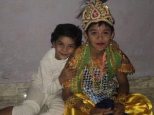 Pravisht Mishra with his sister