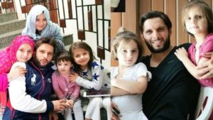 Shahid Afridi with his daughter's