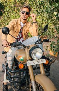 Adnaan Shaikh with his bike