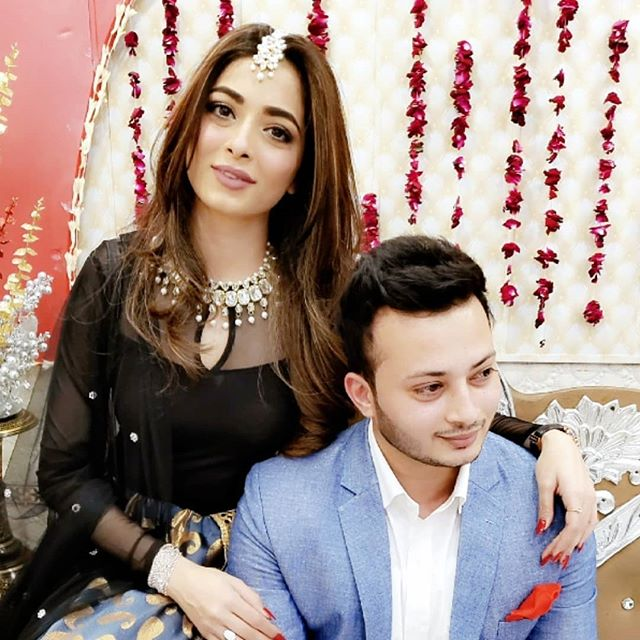 Afreen Alvi with her brother