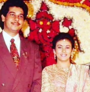Deepika Chikhalia with her husband