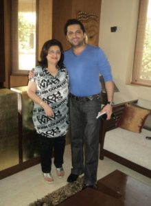 Farhan Furniturewala with his mother