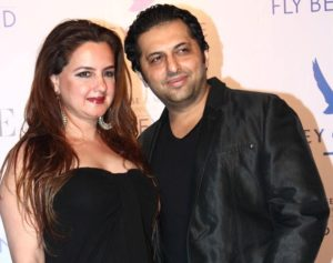 Farhan Furniturewala with his wife Laila Khan