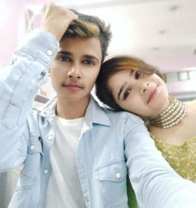 Lucky Dancer with his sister