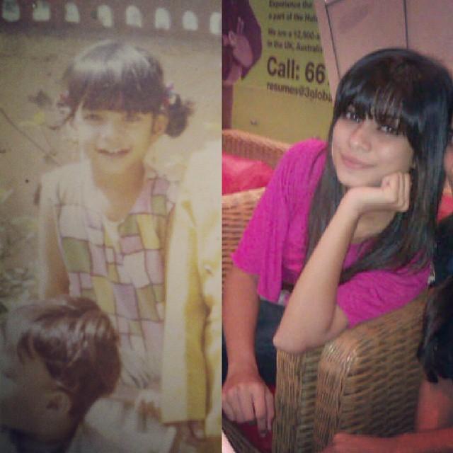 Nagma Mirajkar childhood pic