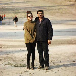 Nagma Mirajkar with her father
