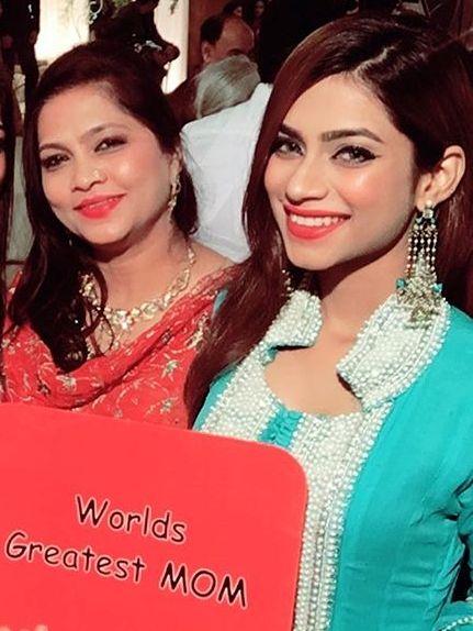 Nagma Mirajkar with her mother