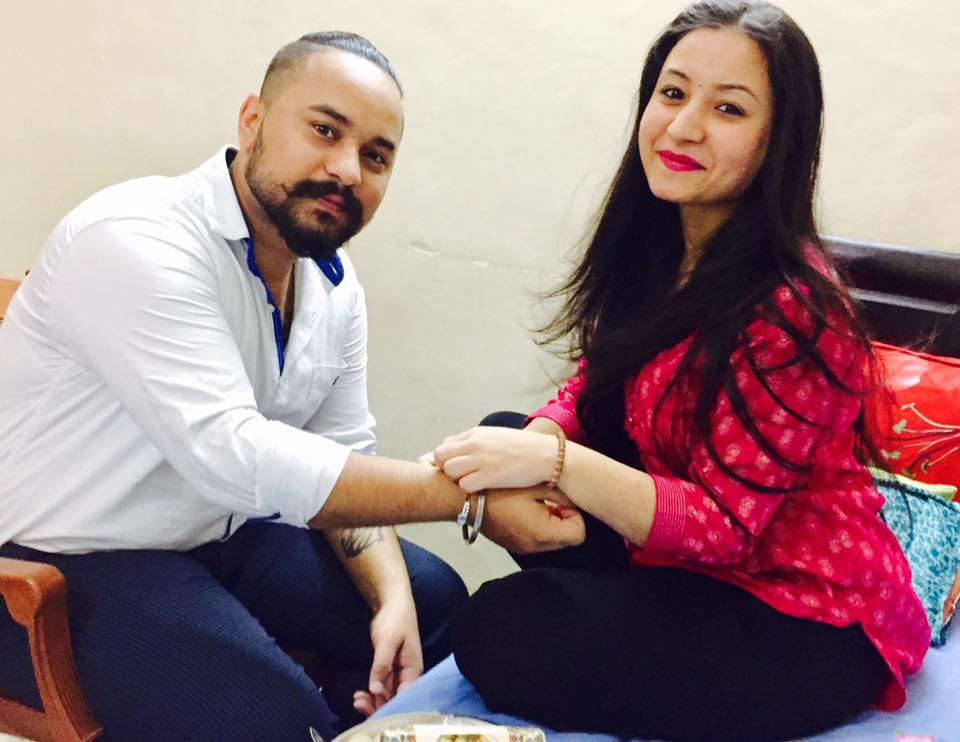 Navdeesh Kaur with her brother